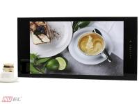 Встраиваемый телевизор для кухни AVS320K (черная рамка)