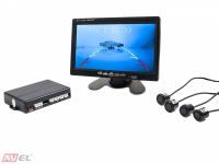 Видео парктроник с четырьмя ультразвуковыми датчиками PS-03V