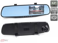 """Зеркало заднего вида AVS0450DVR со встроенным монитором 4.3"""" и двухканальным видеорегистратором"""