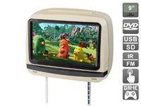 """Подголовник с сенсорным монитором 9"""" и встроенным DVD плеером AVIS Electronics AVS0945T (бежевый)"""