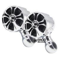 """Мотоакустика Ergo ER600M (встроенный усилитель, 4"""" Hi-Fi динамики 2 шт. 2х100 Вт.) хром"""