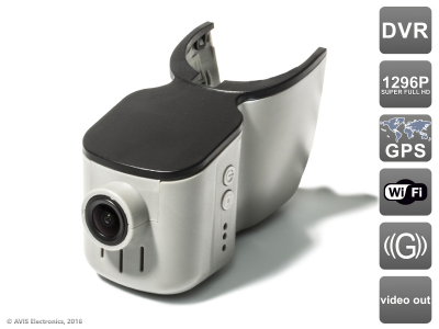 Штатный автомобильный Ultra HD (1296P) видеорегистратор AVS400DVR (#101) GPS для AUDI Q3/Q5/Q7