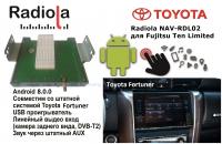 Навигационный блок на системе Android 8.0 Radiola NAV-RDL01 NEW для Toyota Toyota Fortuner