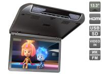 """Автомобильный потолочный монитор 13,3"""" со встроенным FULL HD медиаплеером AVIS AVS440MPP (тёмно-серый)"""