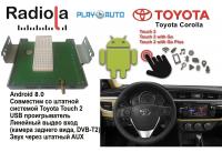Навигационный блок на системе Android 8.0 Radiola NAV-RDL01 NEW для Toyota Corolla