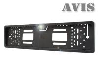 AVS388CPR Камера заднего вида в рамке номерного знака AVIS с LED подсветкой