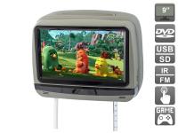 """Подголовник с сенсорным монитором 9"""" и встроенным DVD плеером AVIS Electronics AVS0945T (серый)"""