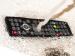 Встраиваемый телевизор для кухни AVS220W (черная рамка)
