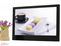 Встраиваемый Smart телевизор для кухни AVS240WS (черная рамка)