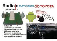 Навигационный блок на системе Android 8.0 Radiola NAV-RDL01 NEW для Toyota RAV4