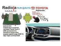 Навигационный блок на системе Android 8.0 Radiola NAV-RDL01 NEW для Toyota Highlander
